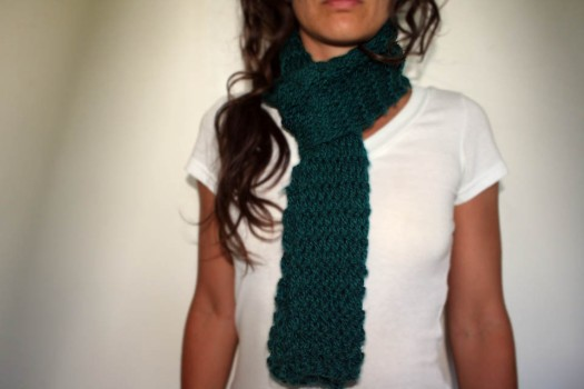 double crochet single color scarf 2