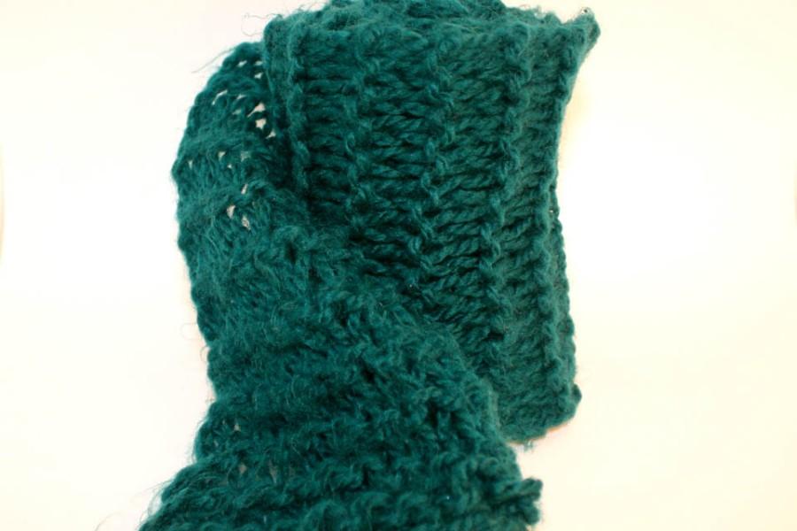 double crochet single color scarf