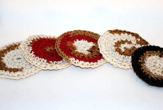 Recycled Silk Coasters 2