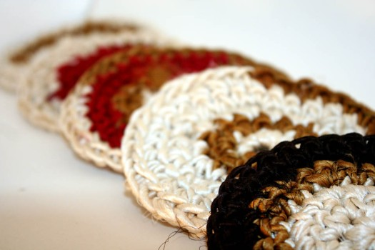 Recylced Silk Coasters 1